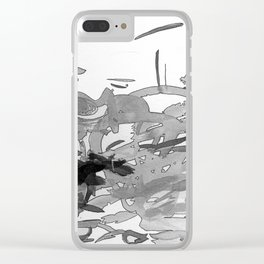 ink splotches Clear iPhone Case