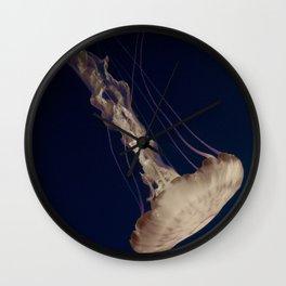 Vintage Retro Pop Art Jellyfish Aqua Ocean Beach Art Under the Sea Underwater Photography Print Wall Clock