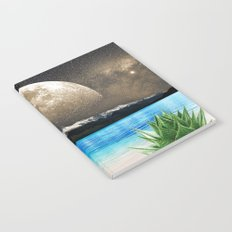 Aloe Vera Moon Beach Notebook