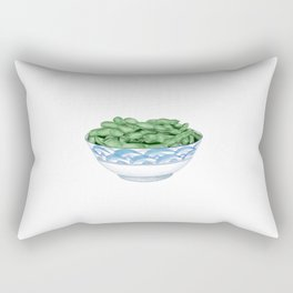 Boiled Green Soybeans | 盐水毛豆 Rectangular Pillow