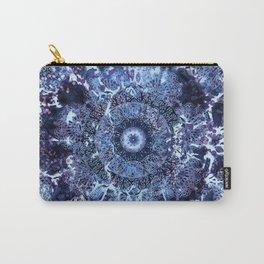 Iris Mandala Blue Carry-All Pouch