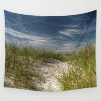 denmark Wall Tapestries featuring Light Tower and Dunes by UtArt