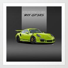 2016 Porsche 911 GT3 RS in Birch Green Art Print