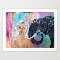 Empowerment Elephant  Art Print