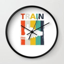 Railroad Railway Locomotive Public Transportation Vintage Style Train Gift Wall Clock