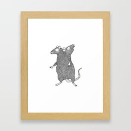 Two Headed Rat, I Love You Framed Art Print