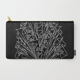 flame line art - black Carry-All Pouch