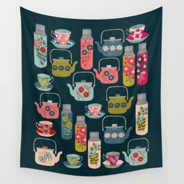 Vintage Thermos - Teacups and Teapots by Andrea Lauren Wall Tapestry