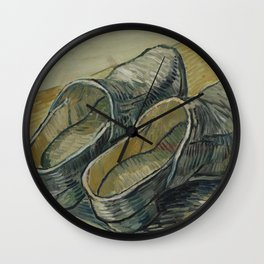 A Pair of Leather Clogs Wall Clock