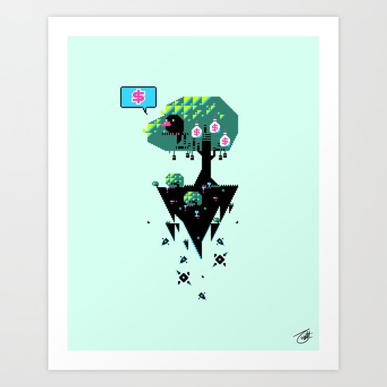 Greedy Grackle Art Print