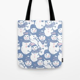 Cheerful Snowmen Tote Bag