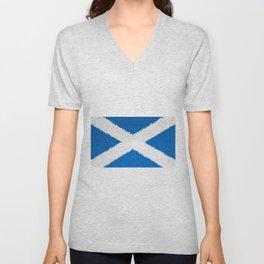 Extruded flag of Scotland Unisex V-Neck