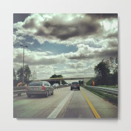 Driving on the Autobahn Metal Print