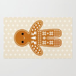 SWEATER PATTERN GINGERBREAD COOKIE Rug