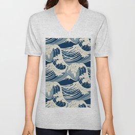Sea Wave Unisex V-Neck