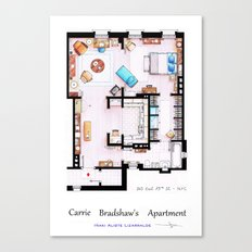 Carrie Bradshaw apartment from Sex and the City v2 Canvas Print