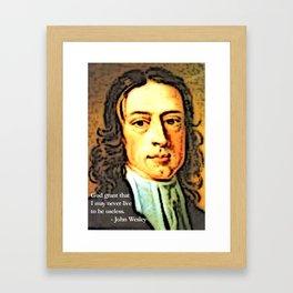 John Wesley 1 Framed Art Print