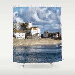 St. Ives Harbour Shower Curtain