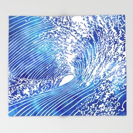 Blue Wave II Throw Blanket