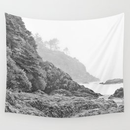 Washington Coast Mist Fog Shoreline Beach Pacific Ocean Long Beach Beards Hollow Forest Northwest Wall Tapestry