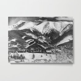 mountains Tatry #blackandwhite #photography Metal Print