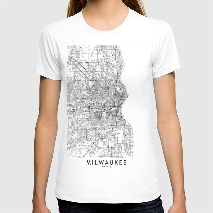 Milwaukee White Map T-shirt
