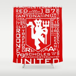 MixWords: Red Devil Shower Curtain