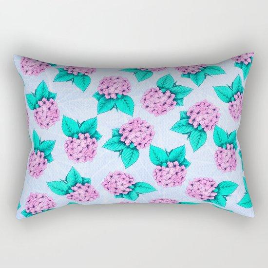 Floral Devotion Pink Flowers Design Rectangular Pillow