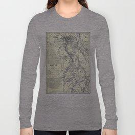 Vintage Map of Egypt (1911) Long Sleeve T-shirt