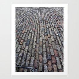 Brick Road Art Print