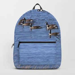 Canadian Geese Swimming Backpack