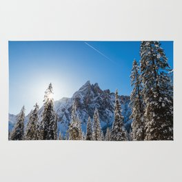 Sunny morning in Val Fiscalina Rug