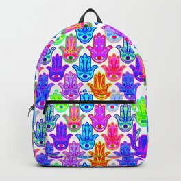 Bohemian Hamsas in White Backpack