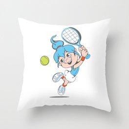 Tennis Girl Present gift Throw Pillow