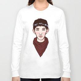 Merlin Flowercrown Long Sleeve T-shirt