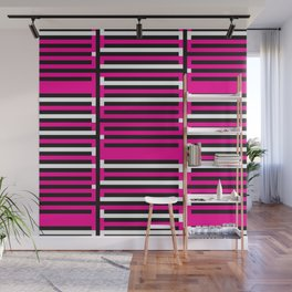 Licorice Bytes, No.6 in Black and Pink Wall Mural