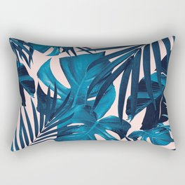 Tropical Jungle Leaves Pattern #6 #tropical #decor #art #society6 Rectangular Pillow