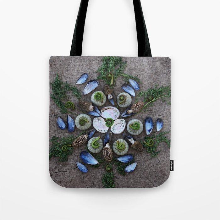 Nature Mandala: April Tote Bag
