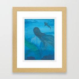 Under the Blue Sea Framed Art Print