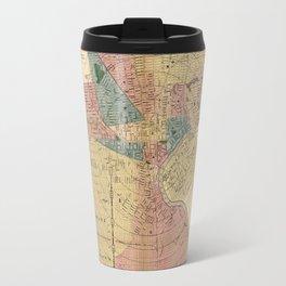 Map Of Newark 1876 Travel Mug