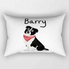 """Custom Cute Dog Art """"Barry"""" Rectangular Pillow"""