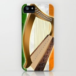 Irish Harp Flag Paddys Day Gift Shirt iPhone Case