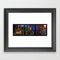 Tree-porn Triptych  Framed Art Print