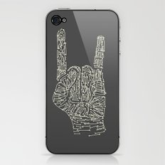 Horns Hand iPhone & iPod Skin