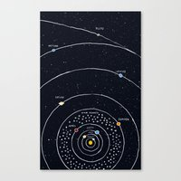 solar system Canvas Prints featuring Solar system by James White