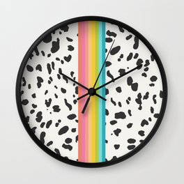 Nostalgia in Animal Print Wall Clock