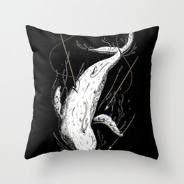 Moby-Dick. The Whale Throw Pillow