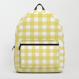 yellow gingham Backpack