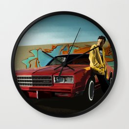 Aaron Paul as Jesse Pinkman & Chevy Montecarlo @ TV serie Breaking Bad Wall Clock