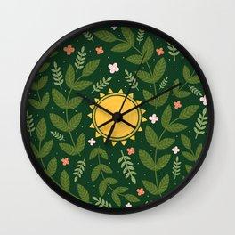 Forest & Sun Wall Clock